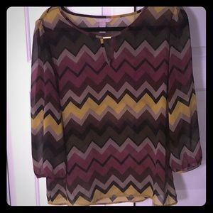 Banana Republic Chevron Sheet Blouse